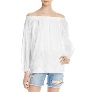 Joie off-the-shoulder embroidered top